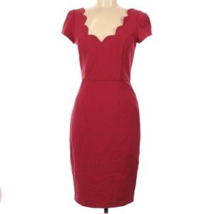 Ava & Aiden date/ valentines scalloped red dress